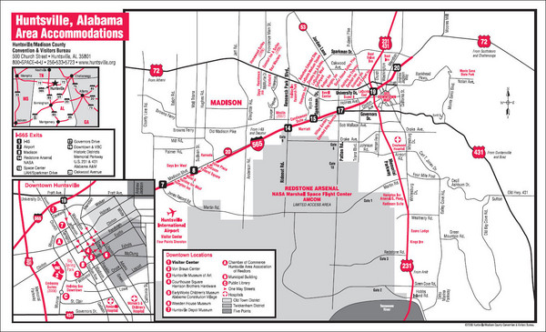 Huntsville Alabama Tourist Map - Huntsville Alabama • mappery