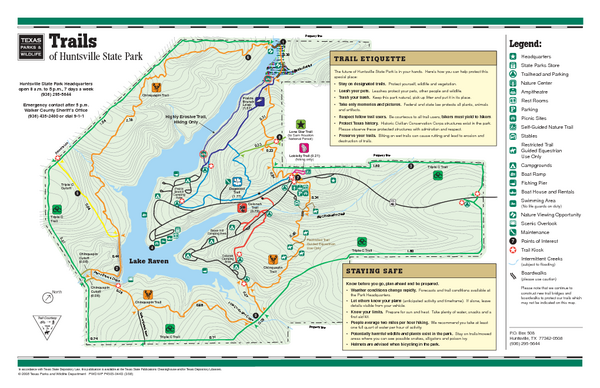 Huntsville, Texas State Park Trail Map
