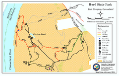 Hurd State Park trail map