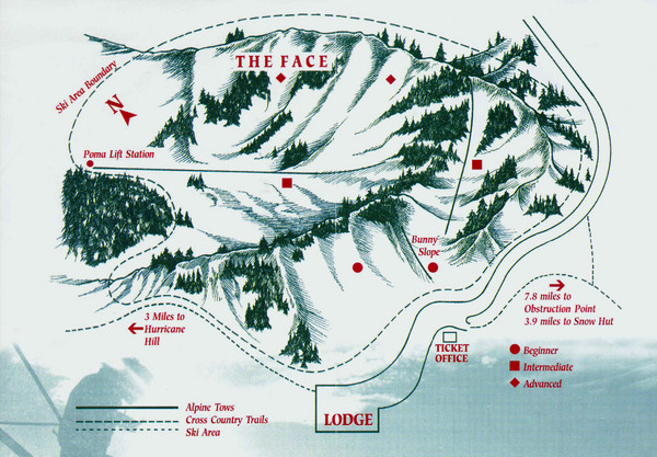 Hurricane Ridge Ski Trail Map Washington United States Mappery
