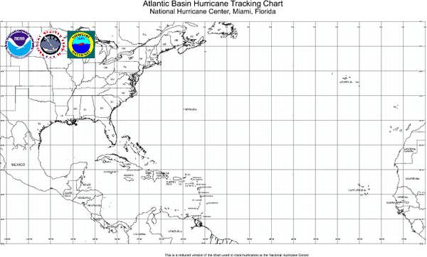 Fullsize Hurricane Tracking Chart Atlantic Map