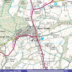 Hurst Green, England City Map