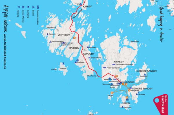 Hvaler Island Hopping Map