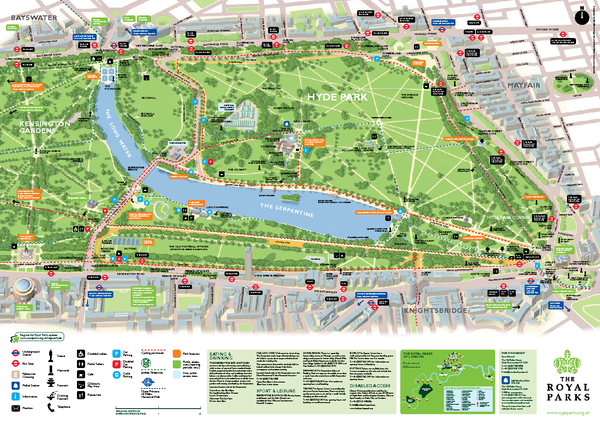 Hyde Park Map Hyde Park London England mappery – Tourist Map of London England
