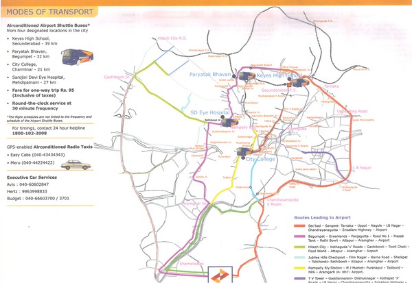 Hyderabad Transportation Map