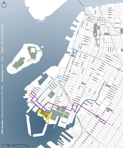 Ikea Brooklyn Map 1 Beard Street Brooklyn New York Mappery