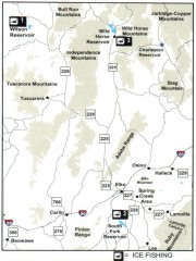 Icefishing Map, Elko County, Nevada