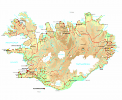 Iceland Physical Relief map