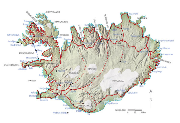 Iceland Tourist Map Iceland mappery – Iceland Travel Map