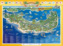 Ilha de Itaparica Tourist Map