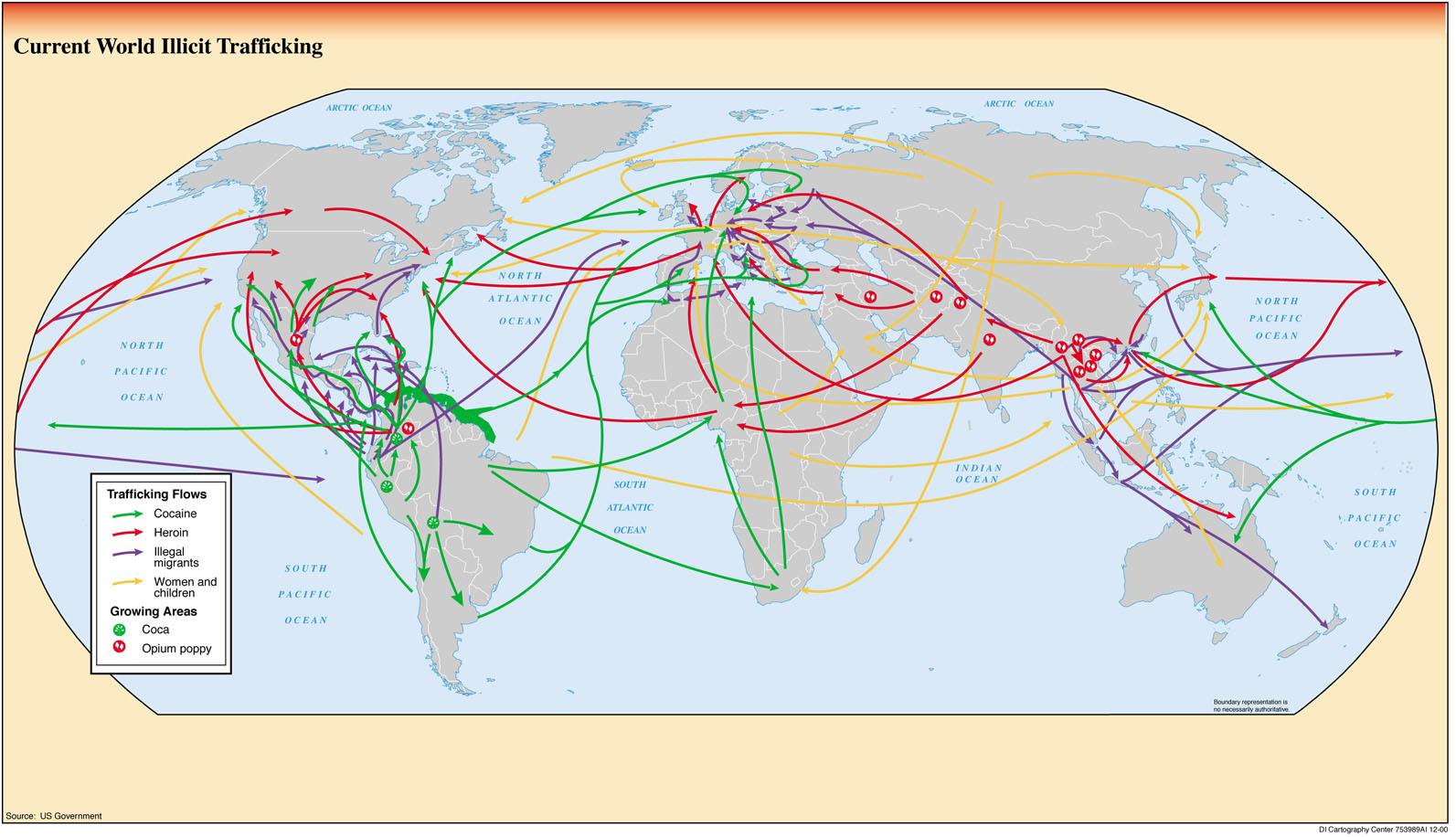 Illicit Trafficking Routes World Map World Mappery - Current world map