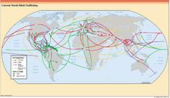 Illicit Trafficking Routes World Map