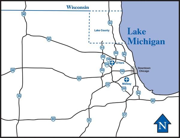 Illinois Highway Map - Illinois USA • mappery