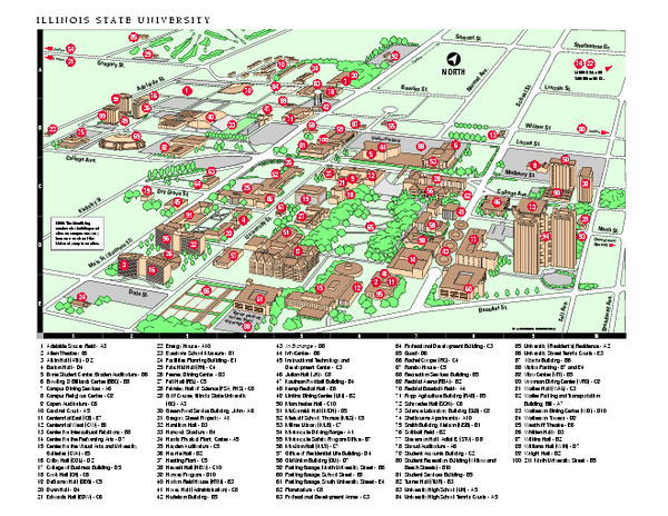 Illinois State University Map  Normal Illinois  Mappery