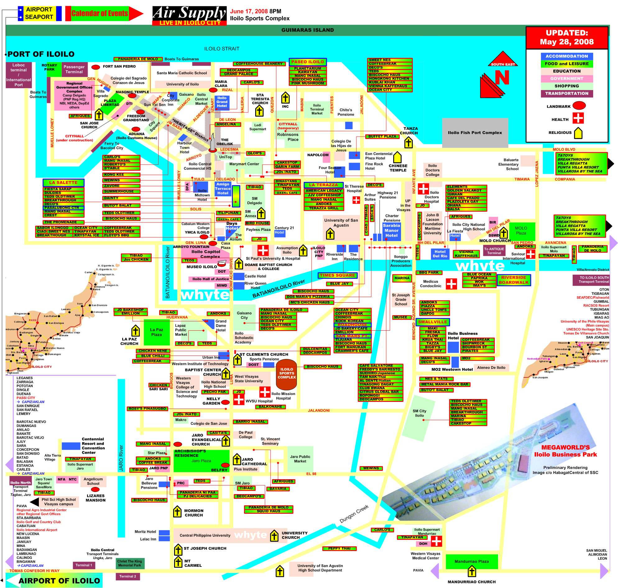 Iloilo City Map Iloilo Phillippines Mappery - Iloilo city map