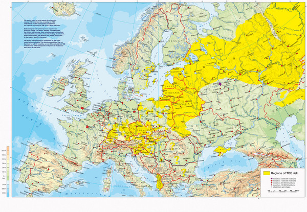 fullsize incidents of tick borne encephalitis in europe east asia and russia map