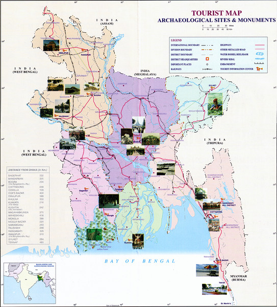India Archaelogical Sites Map