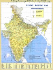 India Railway and Tourist Map