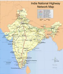 India Roadway Map