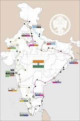 India Transportation Map