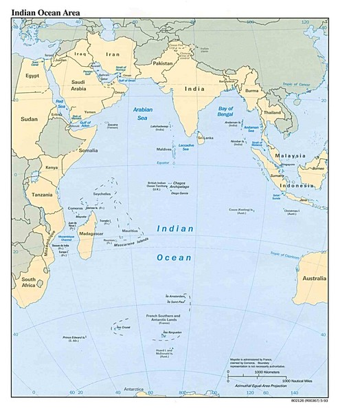 Indian Ocean Area Map
