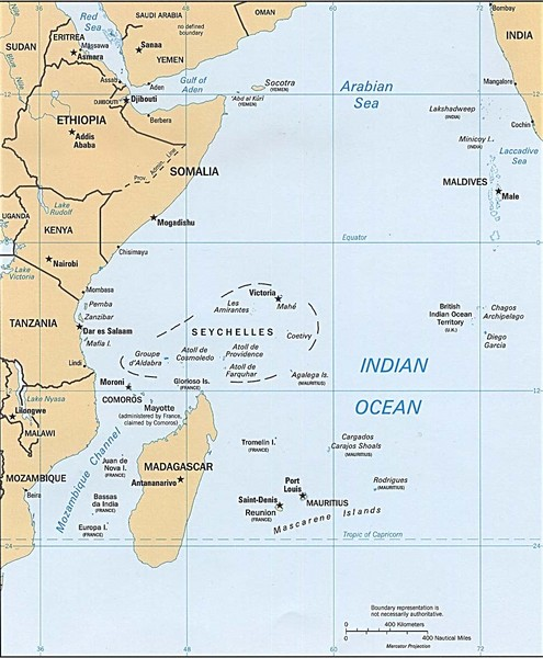 Indian Ocean Islands Map