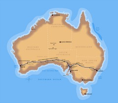 Indian Pacific Railroad Route Map