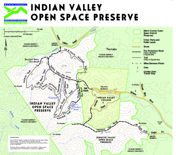 Indian Valley Open Space Preserve Map