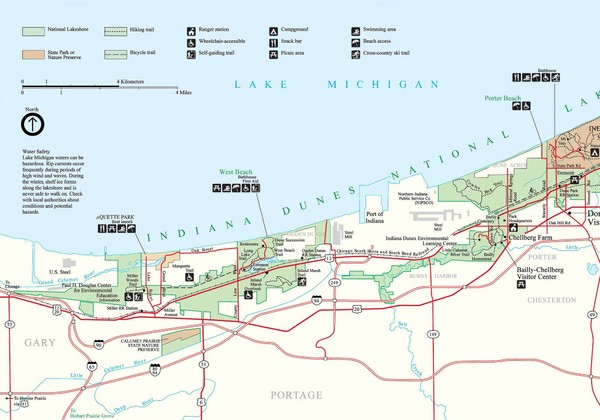 Real Life Map Collection \u2022 Mappery: Warren Dunes State Park Trail Map At Usa Maps