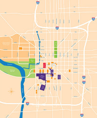 Indianapolis Center Map