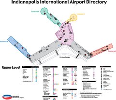Indianapolis International Airport Terminal Map
