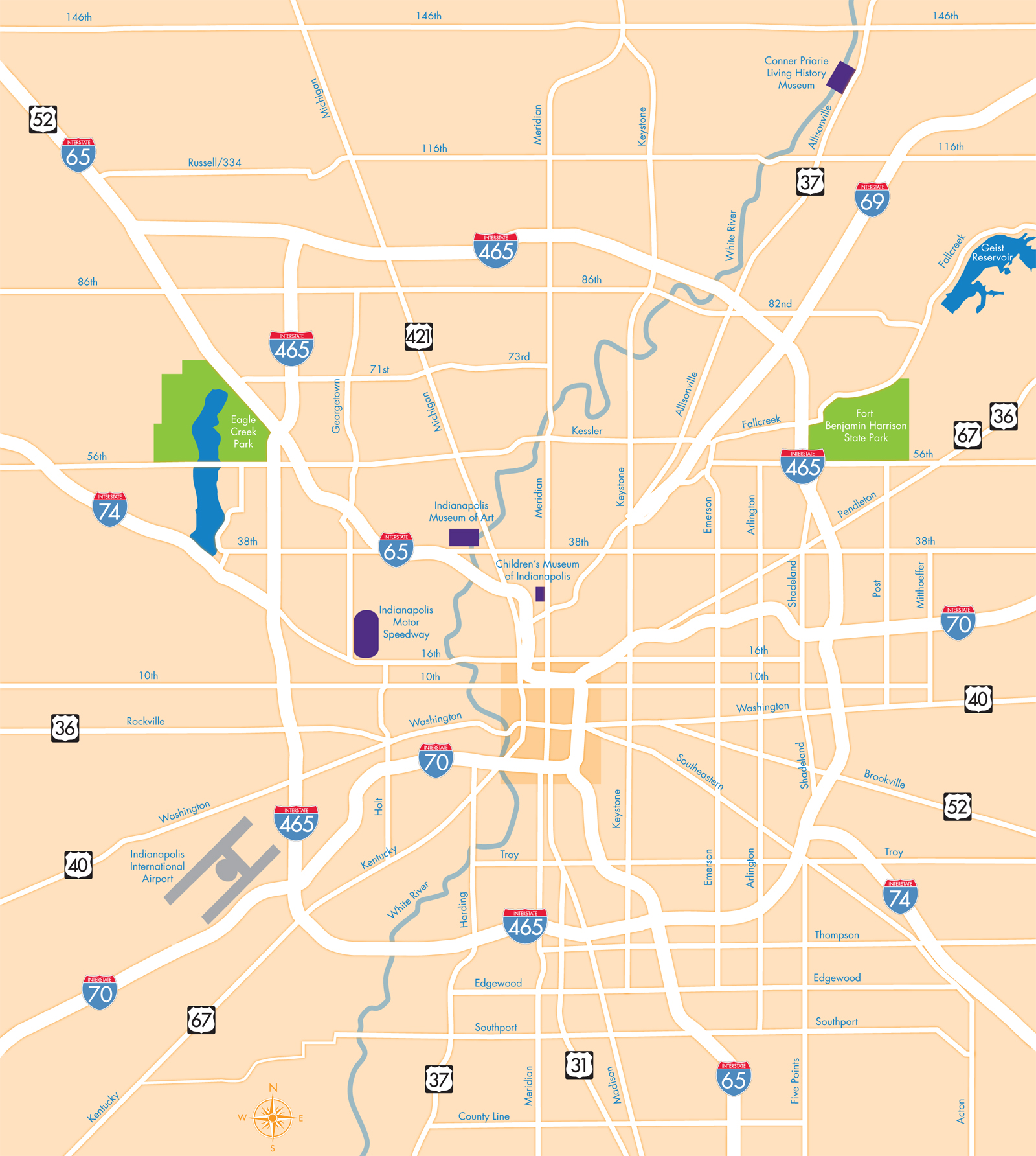 Indianapolis Map Indianapolis IN Mappery - Indianapolis map usa