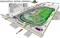 Indianapolis Motor Speedway Map