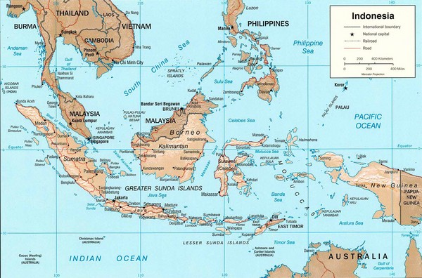 Indonesia Island Map