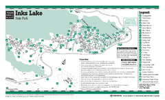 Inks Lake, Texas State Park Facility and Trail Map