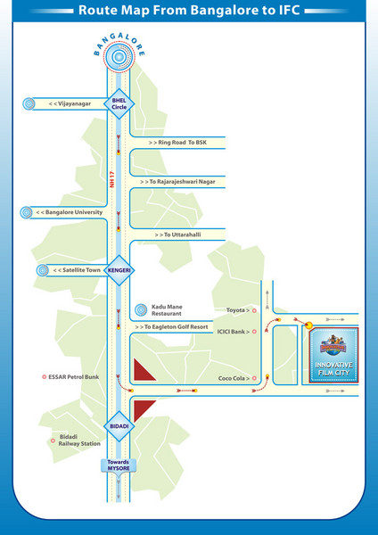 Innovative Film City Travel Map