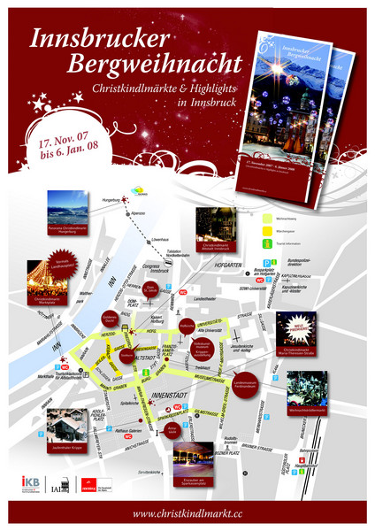 Innsbruck Christmas Markets Map