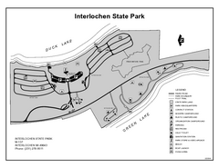 Interlochen State Park, Michigan Site Map
