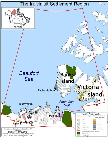 Inuviauit Settlement Region Map