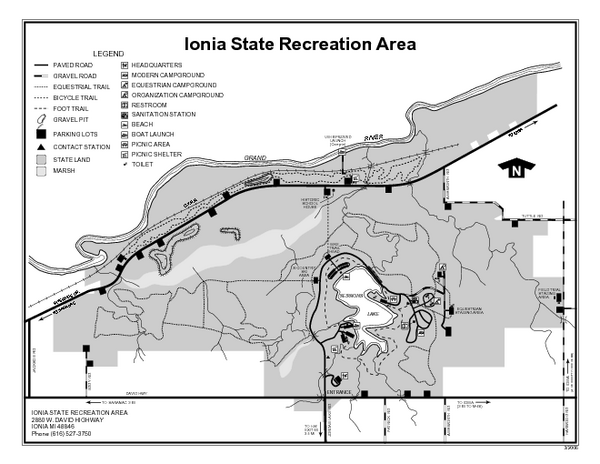Ionia State Recreation Area Michigan Site Map Ionia State
