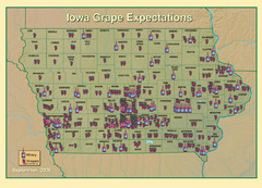 Iowa Grape Expectations Map