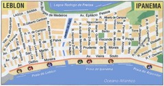Ipanema - Leblon Street Map