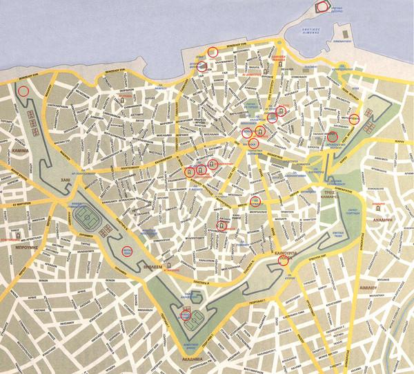 Iraklio City Map Iraklio Mappery