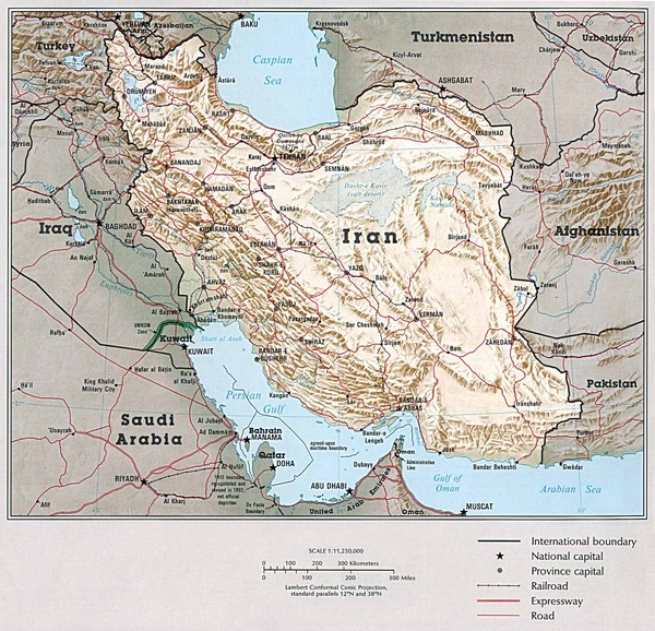 Iran Country Map