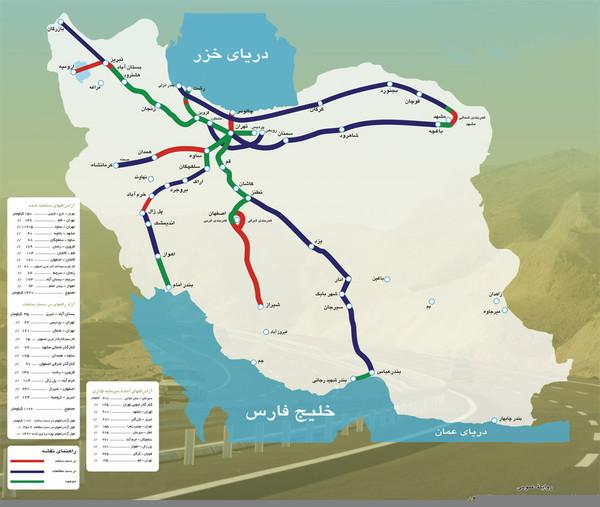fullsize iran freeways map