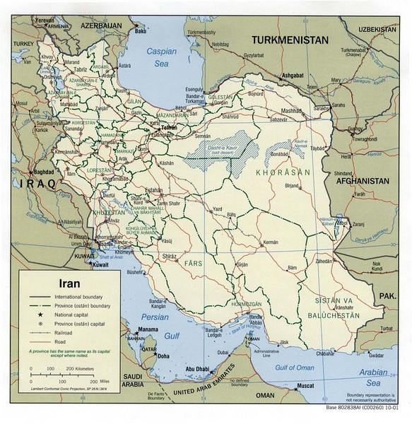 Iran Political Map