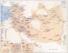 Iran Sasanian Dynasty Map