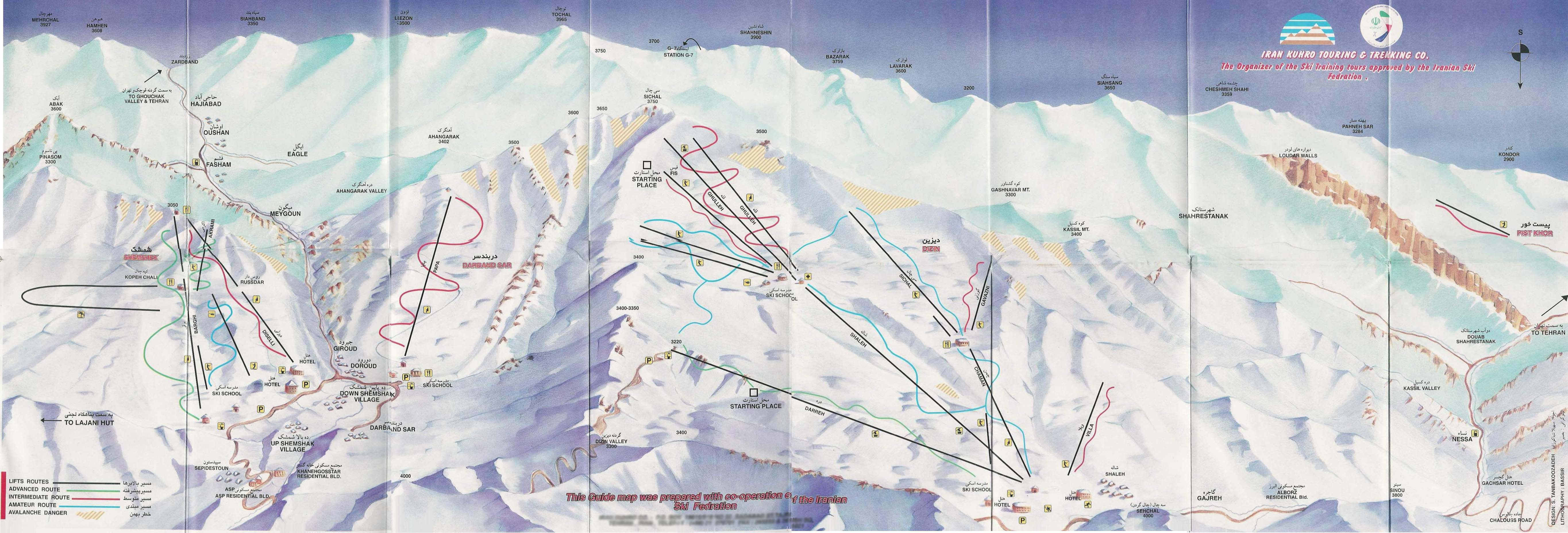 Iranian ski resorts map near tehran iran mappery gumiabroncs Image collections