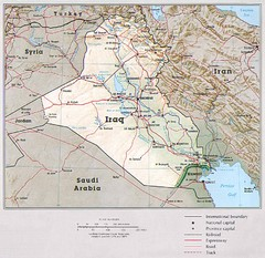 iraq country map