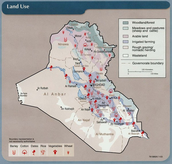 fullsize iraq land use map